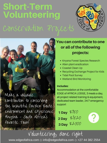 EDGE of AFRICA Short-term volunteering - Conservation